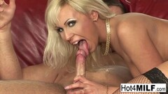 Horny Blonde Milf Keeps Her Sexy Stockings on For Anal Sex! Thumb