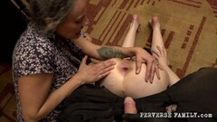 Perverse Family - Dirty Mom With Her Son Pissing On Daughter Thumb