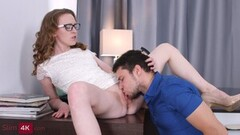 Sexy babe Emma Fantazy banged in the office Thumb