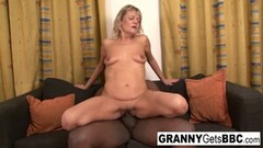 Kinky Granny wants her pussy stuffed with black cock Thumb