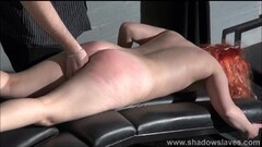 Kinky Redhead amateur spanking and tit whipping of submissive Thumb