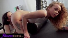 Fitness Rooms Girls wrestling and getting horny Thumb