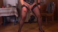 Naughty rough labia stretching with german mature Thumb