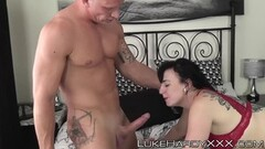 Cuckold Licks Pussy While a Black Guy Bangs His Wife Thumb
