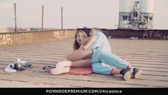 CHICAS LOCA Crazy Cheeky in public with Taylor Sands Thumb