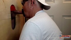 Blowing Off Tattooed Daddy At The Gloryhole Thumb