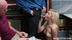 Seductive Madison Hart hammered by security guard in front of the bf Thumb