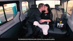 FUCKED IN TRAFFIC - Steamy backseat sex with brunette babe Thumb
