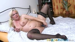 EuropeMaturE Busty Mature Horny Blonde Solo Showoff Thumb