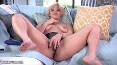 Sexy Maria Jade using a purple toy on her clit Thumb