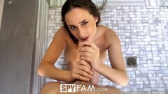 SpyFam Step brother spies on hot stepsister Thumb