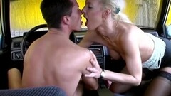 Skinny blonde anal gangbang in public Thumb