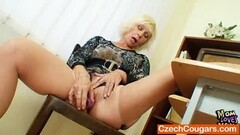Scandalous hottie ladies enjoys pussy tribbing on the bed Thumb