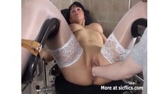 Trimmed lesbo squirting while orally licked Thumb