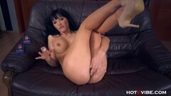 Asian girl swallows his load Thumb