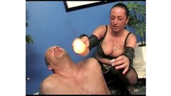Hairy cunt spinner fucked in bondage Thumb