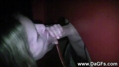 Glamcore beauty tugging and riding cock POV in closeup on the Thumb