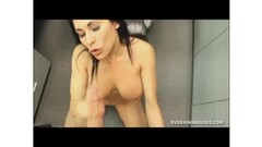 Petite blonde MILF striptease and solo dancing outdoor Thumb