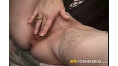 Ponytailed masseuse sixtynined on bathroom floor Thumb