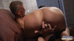 Repeated cumshots over a British MILFs face and eyes Thumb