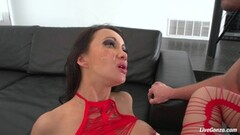 Naughty Jayden Jaymes Plays With Her Big Boobs and pussy Thumb