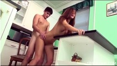 Frisky hottie gets cumshot on her face swallowing all the sem Thumb