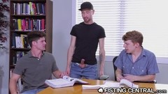 Kinky Cute College Boys Get Distracted By Rough Anal Fisting Thumb