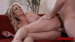 Blonde Milf Briana Banks eats cum after pussy sex Thumb