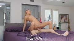 SPYFAM Step sister GRINDS big dick with MEATY mouthful Thumb