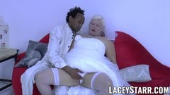 LACEYSTARR - Granny bride fed with creamy cum after pounding Thumb