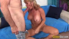 Mature Blonde Sky Haven Spreads for Thick Cock Thumb