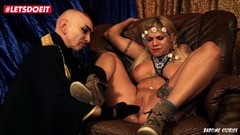 German blonde gets her Ass spanked in hot BDSM Thumb