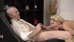OLD4K. Old buddy creampies young blonde after nice fucking on floor Thumb