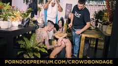 CROWD BONDAGE - BBC and BDSM fuck for Aruna Aghora Thumb