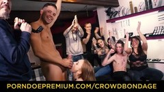 CROWD BONDAGE Petite slave nympho fetish group orgy playtime Thumb
