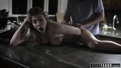 PURE TABOO Nervous Teen Shafted by Dad's Sleazy Friend Thumb
