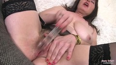 Busty British Hairy Milf Dildo Masturbating Thumb