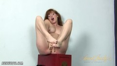 Red headed mature lady cums for aunt judys Thumb
