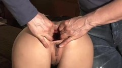 Brutally fisting is GFs greedy gaping butt hole Thumb