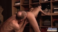Cute Teen Fucked Old man cock seduced him swallowed his cum Thumb