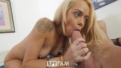SpyFam Step sister Elsa Jean gets pussy serviced Thumb