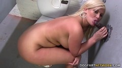 Busty Julie cash sucking big cock Thumb