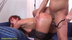 oiled chubby Milf gets ass pumped Thumb