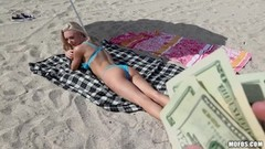 Beach fuck with hot petite blonde Molly Mae Thumb