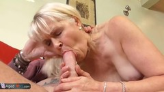 Masturbating blonde plays with her pussy Thumb