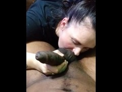 Retarded White Girl Sucking BBC - who Ugly Daughter is this ? Thumb