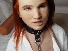 MASK FETISH: Guy fucks living sex dolls pussy which goes in her real pussy Thumb