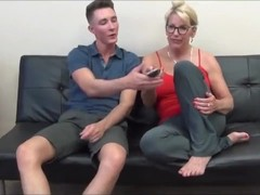 Taboo! Naughty and mature stepmom made her lucky stepson cum twice Thumb