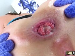 TRUE ANAL Gaping Lexi Lore's tight little butthole Thumb