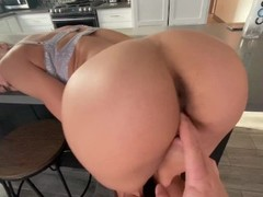 Alexis Tae getting fingered in doggy Thumb